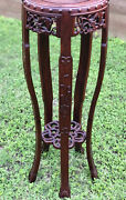 Very Rare Beautiful Antique Chinese Rosewood Vase/censor/plant Stand Rare Rare