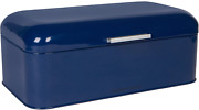 Large Blue Bread Box - Powder Coated Stainless Steel - Extra Large Bin For Loave