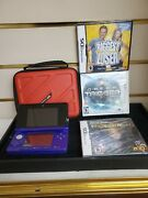 Nintendo 3ds Midnight Purple Portable Gaming Console Missing Stylist