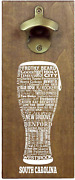 Torched State Craft Beer Typography Magnetic Beer Bottle Opener With Cap Catcher