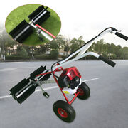 43cc Gas Powered Floor Sweeper Cleaning Driveway Turf Sweeper Broom With Wheels