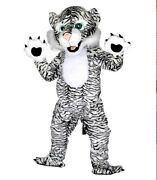 Halloween Black White Cat Mascot Costumes Suits Adults Outfit Cosplay Dress Us
