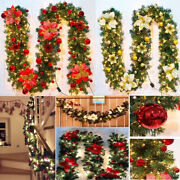 2.7m Christmas Garland Decoration Led Colorful Fireplaces Stair Wedding Decor