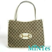 Hose Bit Gg Canvas Tote Bag 623694 Beige Women And039s Woman Gog Out Daily