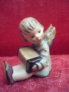 Beautiful, Old Hummel Angel With Accordion__candle Holder_
