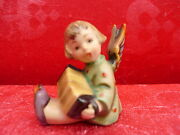 Beautiful, Old Hummel Angel With Bandonion__candle Holder_