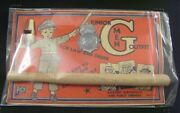 Junior G Men Outfit Vintage Pico Brand Toy Metal Badge Nightstick Whistle 1940's