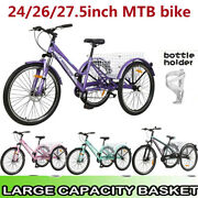 24/26/27.5 Adult Tricycle 7-speed 3-wheel Mountain Trike W/shipping Basket Gift