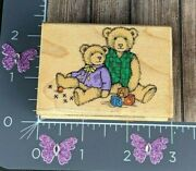 Hero Arts Rubber Stamp Antique Bears Teddy Toys 2.75 R31