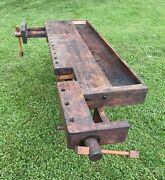 Antique Carpentry Workbench Shaker Table 1850s