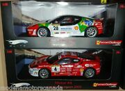 Lot Of 2 Ferrari F430 Challenge Race Cars 28 And 4 118 By Hot Wheels Elite Sale