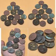 Sell A Lot Of 13 Coin Wonderful Unresearched Ancient Roman King Bronze Coin