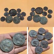 Sell A Lot Of 10 Coin Wonderful Unresearched Ancient Roman King Bronze Big Coin