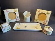 Limoges France F.m.fontanille And Marraud Butterflies Trayframesstamp And More