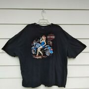 Harley Davidson French Lick Indiana T-shirt Size Xx Large Pin Up Graphics.