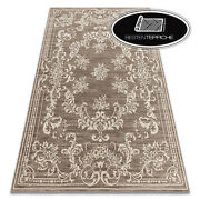 Modern Wool Rugs And039 Nainand039 Ornament Frame Beige / Braun Best Quality