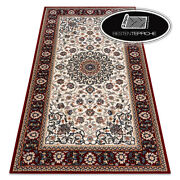 Modern Wool Rugs And039 Nainand039 Frame Ornament Beige/ Red Wine Best Quality