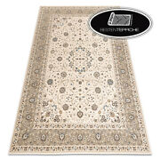 Modern Wool Rugs And039 Nainand039 Ornament Frame Vintage Beige Best Quality