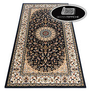 Modern Wool Rugs And039 Nainand039 Frame Rosette Beige/black Best Quality
