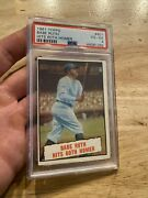 Babe Ruth Psa 4 Vintage Antique Collector Card 1961 Topps Man Cave Baseball Gift