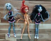 Monster High Doll Fearleaders Purrsephone Toralei Meowlody Toysrus Exclusive Set
