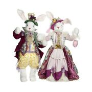 Mark Roberts 2019 Mr And Mrs Peter Rabbit Figurine Assortment Of 245-50 Inches