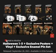 Halloween 1-5 + Exclusive Posters + Vinyl + Excl Enamel Pin Set Limited Quantity