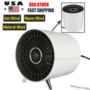 Portable Electric Space Heater 1000w Compact Mini Home Fan Fast Heating Office