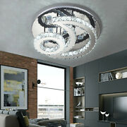 36w Led Ceiling Light Moon+sun Ring Flush Mount Crystal Lamp Home Fixture Round