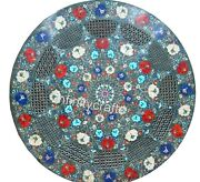 36 Inches Marble Dining Table Top With Filigree Work Decent Look Coffee Table