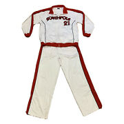 Vtg South Pole Spell Out All Players League White Red Track Suit Mens Large
