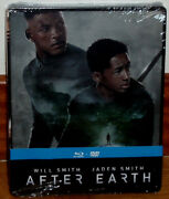 After Earth Combo Blu-ray+dvd Steelbook Sealed New Action Sleeveless Open R2