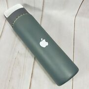 Apple Logo H2go Inspire 18 Oz Glass Water Bottle Grey Silicone Sleeve Skin Cover