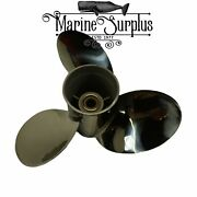 New Stainless Propeller 16 X 19 Rh - Replacement For Mercury Enertia 48-8m004040