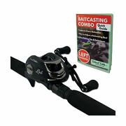 Tailored Tackle Left Handed Bass Fishing Rod Reel Baitcasting Combo 7 Ft 2 -...