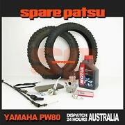 Yamaha Pw80 Fuel Tap Spark Plug Filter Element Carby Front Brake Cable 2t Oil
