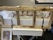 Hand Made 36andrdquo Titanic Wooden Plank On Frame Model Rare Never Displayed Oop
