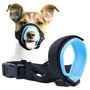 Gentle Muzzle Guard For Dogs - Prevents Biting Unwanted Extra Large Blue