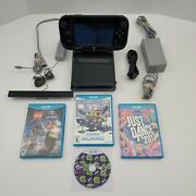 Nintendo Wii U Console Deluxe 32gb With 5 Games And 2 Controllers + Extra