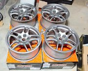 Genuine Nissan Skyline Gtr R33 Forged Alloy 17x9+30 Wheels With Caps 114.3 Used