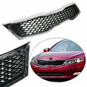 Abs Front Upper Bumper Grille Grill For 2011 2012 2013 Kia Optima Chrome And Black