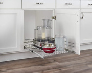 Single Wire Basket Pull Out Shelf Storage Organizer For Kitchen Base Cabinets