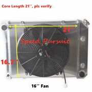 3 Row Radiator 16and039and039 Fan Shroud For 68-74 Chevy Nova/ 80-88 Monte Carlo 21and039and039 Core