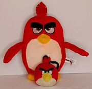 Angry Birds Plush Red Keychain Clip And Red Bird 2017 Movie