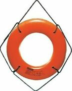 Jim-buoy Jbo-x-24 Life Ring 24 Orange Buoy Without Becket Uscg Approved Boat