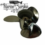 New Stainless Propeller 15 X 15 Rh - Replacement For Mercury Enertia 48-898990a4