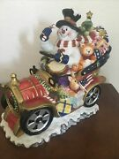 Beautiful Vintage Snowman Sleigh Cookie Jar. Unbranded . Great Condition.