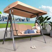 Summer 3-seat Top Cover Canopy Replacement Garden Outdoor Swing Chair Hammock