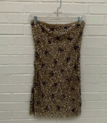 Arden B Size Xs Sequin Sheer Strapless Mini Dress Party Cocktail