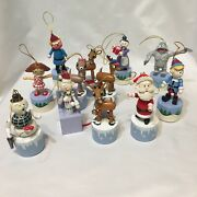 Rudolph The Red Nose Reindeer Push Puppet Ornaments 12 Pcs 2004 Coyne's